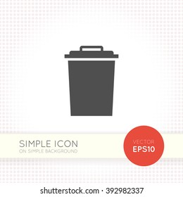 Flat style Garbage tank icon. Trash bin icon eps. Trash bin illustration.