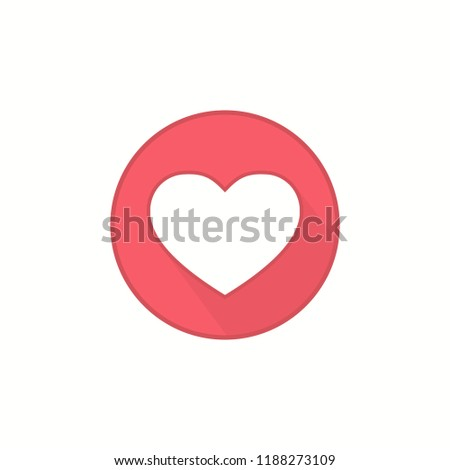 flat style heart icon template social stock vector royalty free