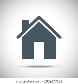 Flat style home icon.