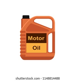 flat style icon, motor oil tank isolated on white background