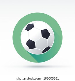 Flat style with long shadows, football vector icon illustration.