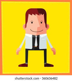 flat style male avatar character design