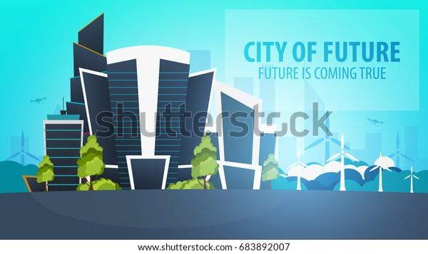 Flat Style Modern City Houses Building | Buildings/Landmarks ...