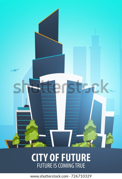 Flat Style Modern City Houses Building Stock Vector (Royalty Free ...