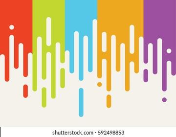 Flat style paint background. Abstract minimal modish pattern