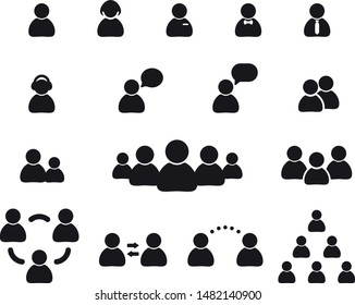flat style people. people icon vector set