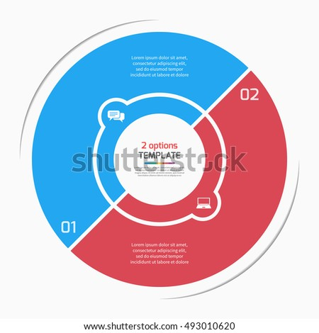 flat style pie chart circle infographic stock vector royalty free