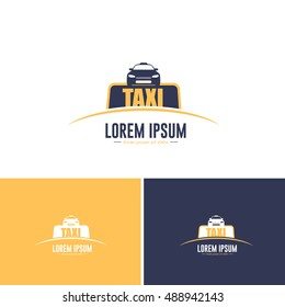 Flat Style Taxi Vector Icons, Logos, Sign, Symbol Template