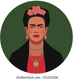 Flat style vector illustration of Mexican woman in EPS8 format