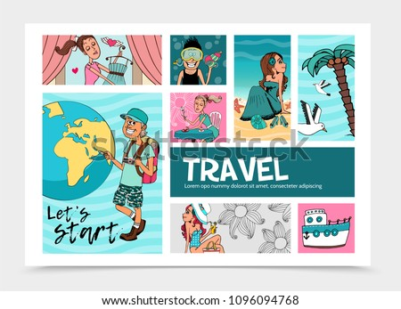 Flat Summer Travel Infographic Template
