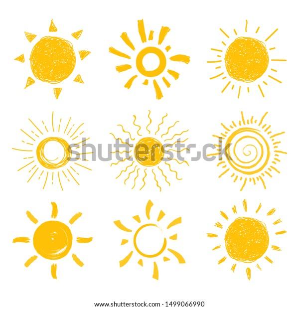 Flat Sun Button