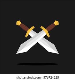 Flat swords vector