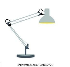 Flat table lamp