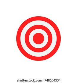 Flat target illustration. Red and white circles