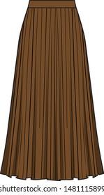 Flat technical sketch of skirt