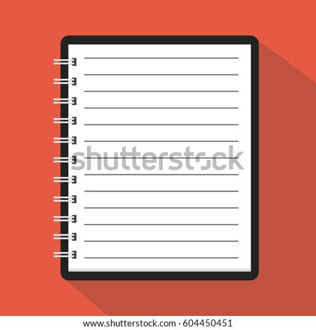 Flat Template Notebook Diary For Business Cover Design Office Stationery Items