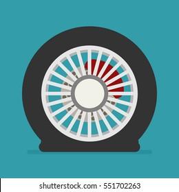 Flat tire icon