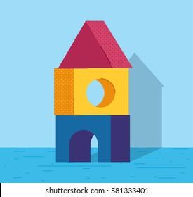 Flat Toy Blocks