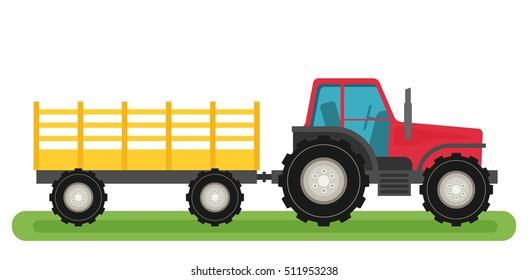 Tractor Trailer Stock : Cartoon tractor images stock photos vectors shutterstock