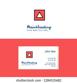 Flat Traingle shape Logo and Visiting Card Template. Busienss Concept Logo Design