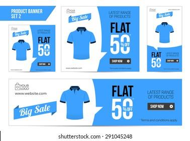 Flat T-Shirt Sale Banner 50 off