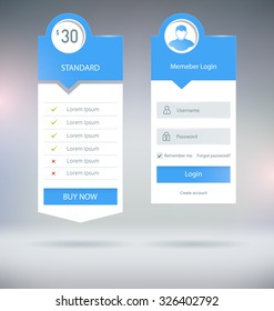 Flat UI Web Forms and Elements Vector Templates