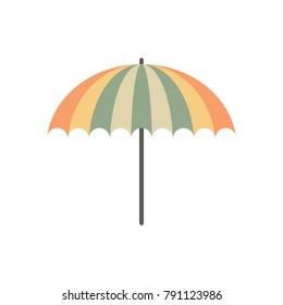Flat Umbrella Simple Vector