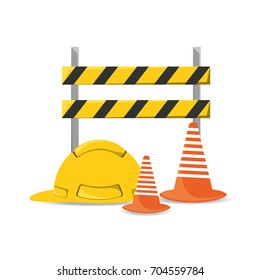 flat under construction and helmet