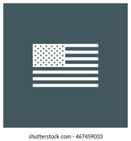 Flat USA flag icon, america icon, flag icon, flat web, material icon, ios icon, image jpg, vector eps