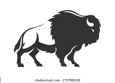 flat vector design of a black bull logo