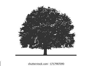 flat vector design of a black tree