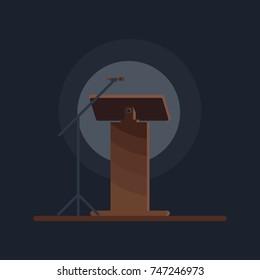 Flat vector design in icon lectern symbol.