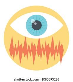 Flat vector icon design of audiovisual