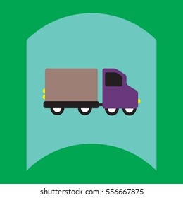 flat vector icon design collection truck silhouette