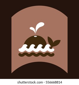 flat vector icon design collection whale silhouette