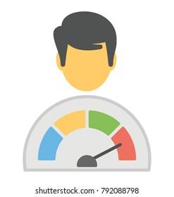 Flat vector icon design on self esteem