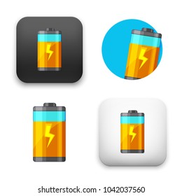 flat Vector icon - illustration of battery icon