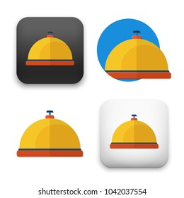flat Vector icon - illustration of brass bell icon