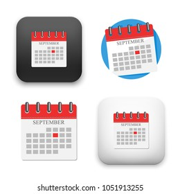 flat Vector icon - illustration of calendar icon
