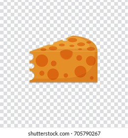 flat Vector icon - illustration of cheese icon