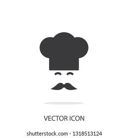flat Vector icon - illustration of Chef icon