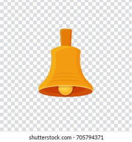 flat Vector icon - illustration of christmas golden bell icon