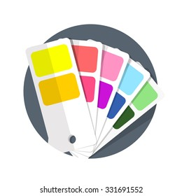 flat Vector icon - illustration of Color guide icon isolated on white