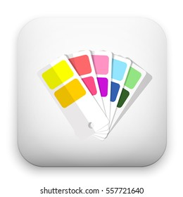 flat Vector icon - illustration of Color guide icon