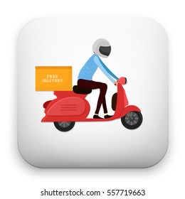 flat Vector icon - illustration of Delivery icon