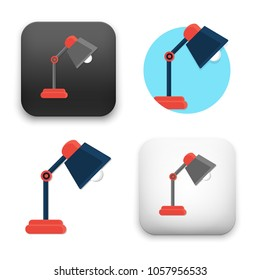 flat Vector icon - illustration of desk lamp icon