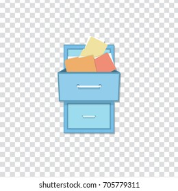 flat Vector icon - illustration of filling cabinet icon
