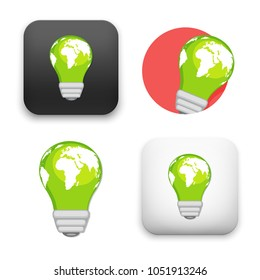 flat Vector icon - illustration of Green energy icon
