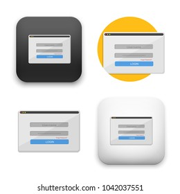 flat Vector icon - illustration of login icon