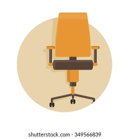 flat Vector icon - illustration of office chair icon isolated on white